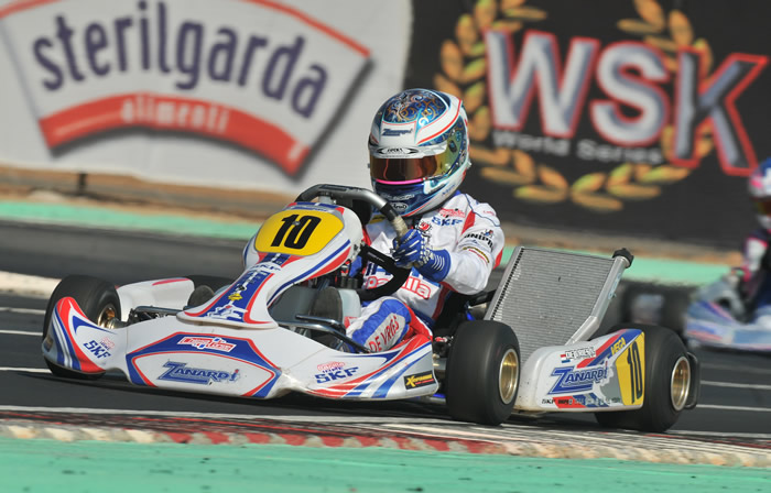 Nyck De Vries wins the first round of the WSK World series in SKF using a T10 Tillett seat